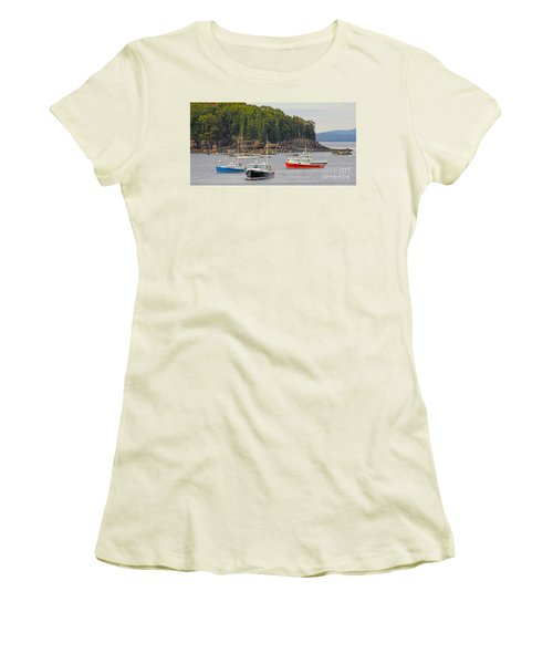 Lobster Boats In Bar Harbor Women's T-Shirt (Athletic Fit)