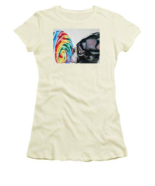 Lolli Pup Women's T-Shirt (Athletic Fit)