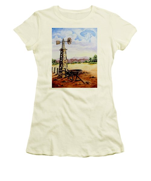 Lonesome Prairie Women's T-Shirt (Junior Cut) by Jimmy Smith