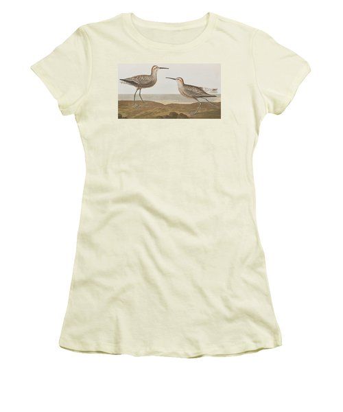 Long-legged Sandpiper Women's T-Shirt (Junior Cut) by John James Audubon