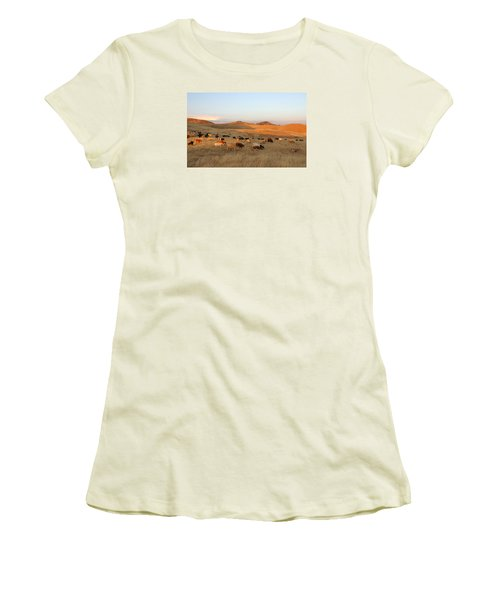 Longhorns Women's T-Shirt (Junior Cut) by Diane Bohna