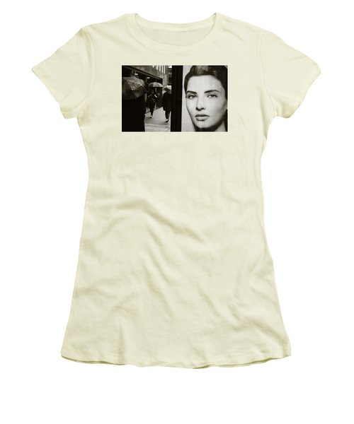 Women's T-Shirt (Junior Cut) featuring the photograph Looking For Your Eyes by Empty Wall
