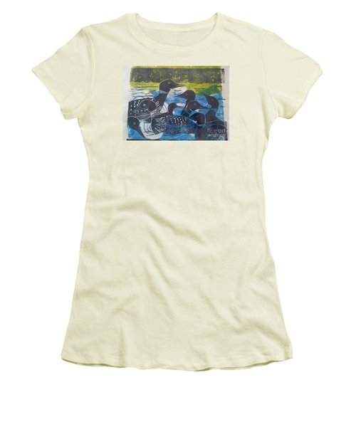 Loon, I See Women's T-Shirt (Junior Cut) by Cynthia Lagoudakis