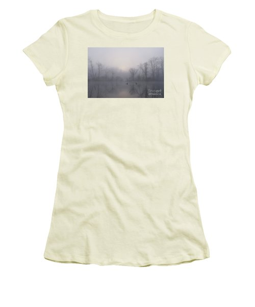 Loons In The Fog Women's T-Shirt (Athletic Fit)