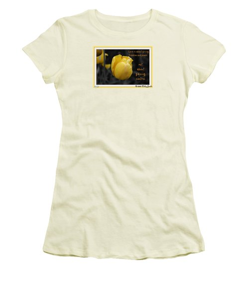 Love Is About Giving Women's T-Shirt (Junior Cut) by Holley Jacobs