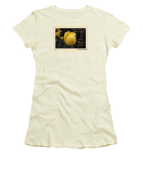 Love Is About Giving Women's T-Shirt (Junior Cut)