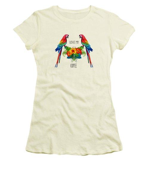 Love My Coffee Women's T-Shirt (Junior Cut) by Ericamaxine Price