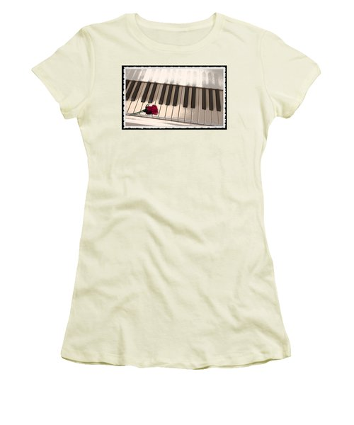 Women's T-Shirt (Junior Cut) featuring the photograph Love Notes by Terri Harper