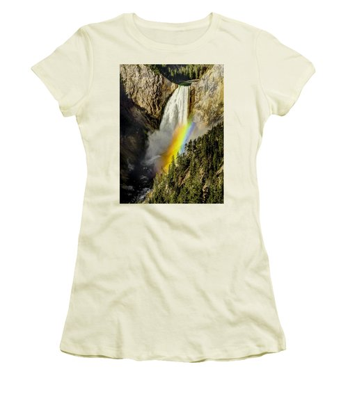 Lower Falls- Yellowstone Park Women's T-Shirt (Athletic Fit)