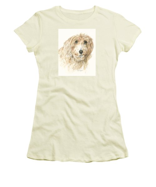 Women's T-Shirt (Junior Cut) featuring the drawing Lucy by Meagan  Visser