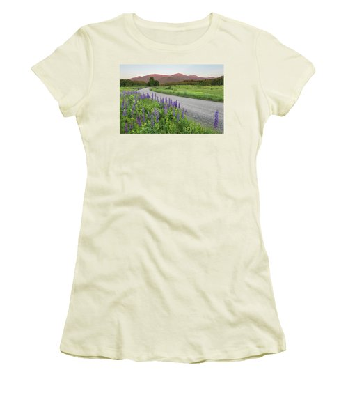 Lupine Sunset Road Women's T-Shirt (Athletic Fit)