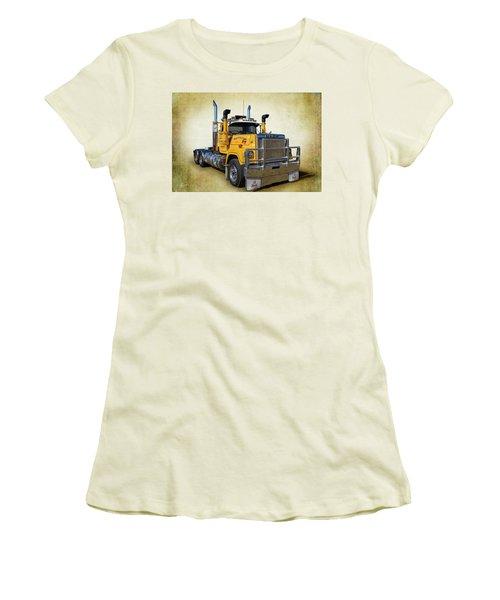 Mack Truck Women's T-Shirt (Junior Cut) by Keith Hawley