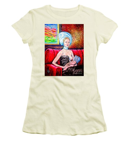 Madonna And Baby Women's T-Shirt (Junior Cut) by Viktor Lazarev