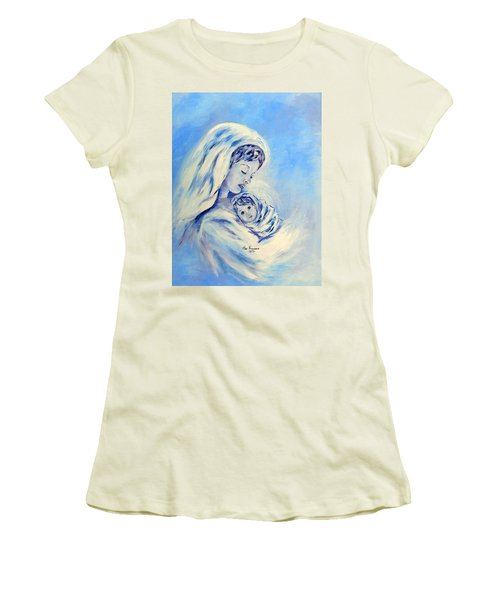 Madonna And Child By May Villeneuve Women's T-Shirt (Athletic Fit)