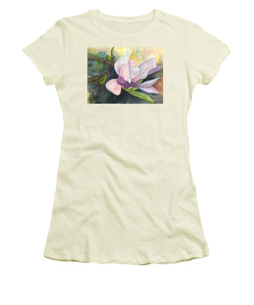 Magnificent Magnolia Women's T-Shirt (Junior Cut) by Lucia Grilletto