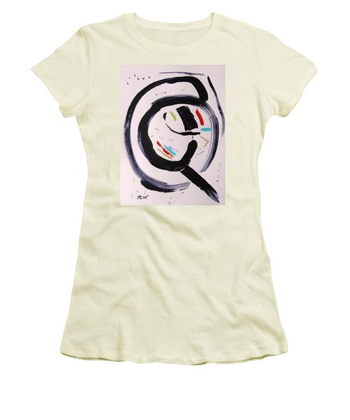 Women's T-Shirt (Junior Cut) featuring the painting Magnifying by Mary Carol Williams