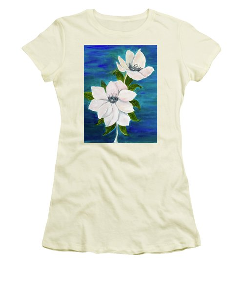 Magnolias Women's T-Shirt (Athletic Fit)