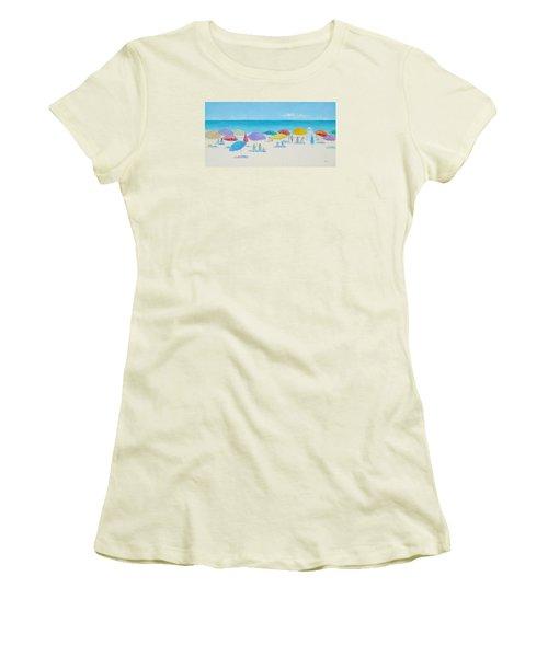 Main Beach East Hampton  Women's T-Shirt (Junior Cut) by Jan Matson