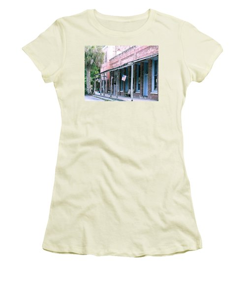 Main Street Micanopy Florida Women's T-Shirt (Athletic Fit)