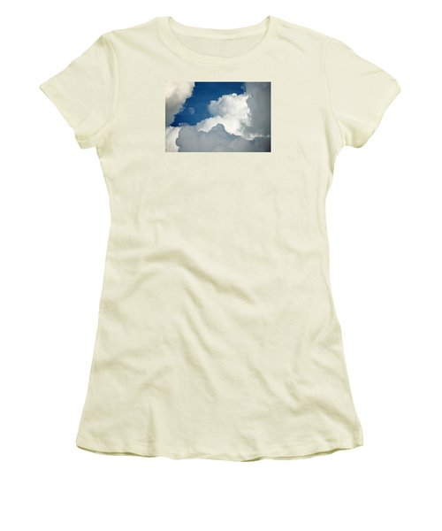 Majestic Storm Clouds With Moon Women's T-Shirt (Athletic Fit)