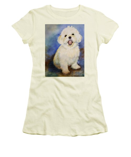 Maltese Named Ben Women's T-Shirt (Junior Cut) by Marilyn Jacobson