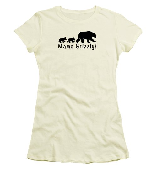 Mama Grizzly And Cubs Women's T-Shirt (Junior Cut) by A C