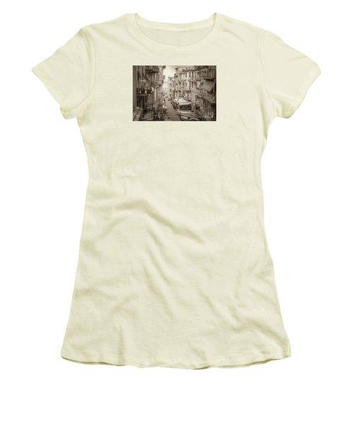 Manarola In Sepia Women's T-Shirt (Athletic Fit)