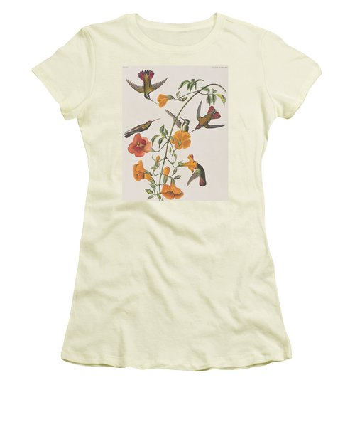 Mango Humming Bird Women's T-Shirt (Junior Cut) by John James Audubon