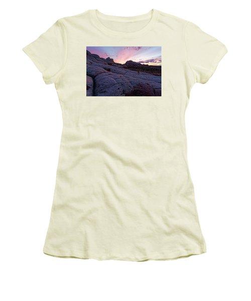 Women's T-Shirt (Junior Cut) featuring the photograph Man's Best Friend Sunset by Jonathan Davison