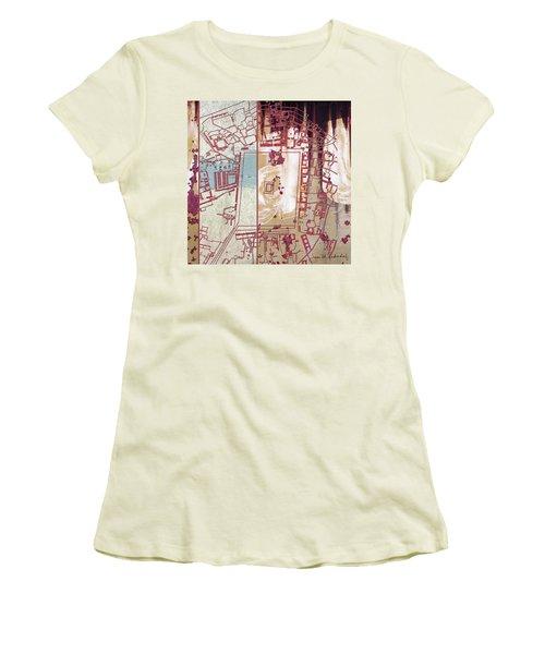 Maps #27 Women's T-Shirt (Junior Cut) by Joan Ladendorf