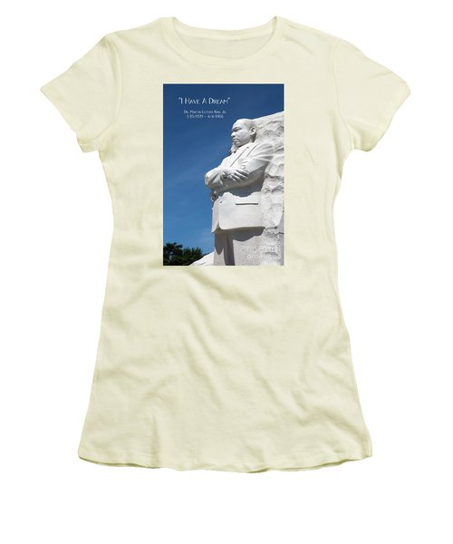 Martin Luther King Jr. Monument Women's T-Shirt (Athletic Fit)