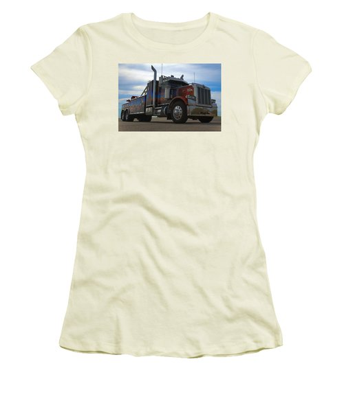 Marvins Big Rig Cars Movie Tribute Tow Truck Women's T-Shirt (Junior Cut) by Tim McCullough