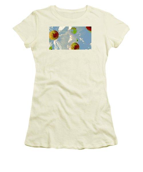 Matilija Poppies Pop Art Women's T-Shirt (Junior Cut) by Ben and Raisa Gertsberg