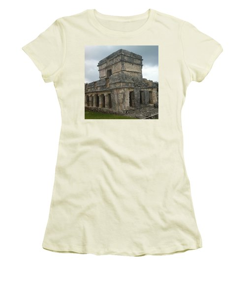 Mayan Stone Homes  Women's T-Shirt (Athletic Fit)