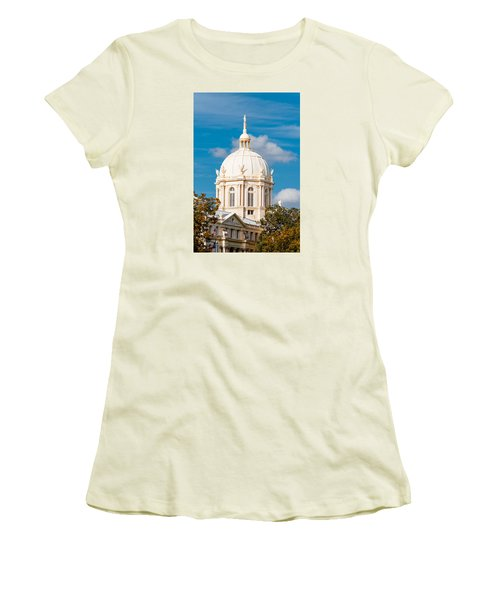Mclennan County Courthouse Dome By J. Reily Gordon - Waco Central Texas Women's T-Shirt (Athletic Fit)