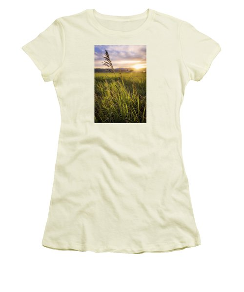 Meadow Light Women's T-Shirt (Athletic Fit)