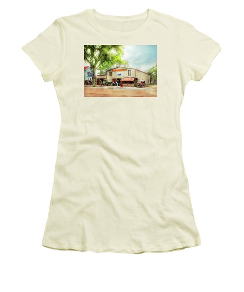 Women's T-Shirt (Junior Cut) featuring the photograph Mechanic - All Cars Finely Tuned 1920 by Mike Savad