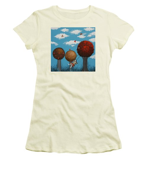 Meditation Under The Trees Women's T-Shirt (Athletic Fit)