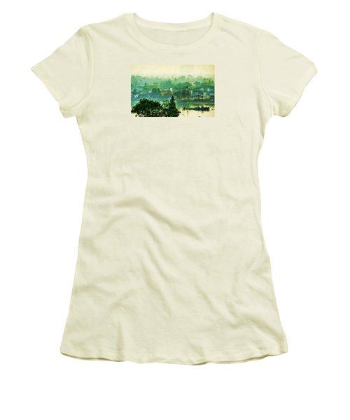 Mekong Morning Women's T-Shirt (Junior Cut) by Cameron Wood