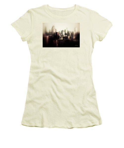 Women's T-Shirt (Athletic Fit) featuring the photograph Melbourne Towers by Joseph Westrupp