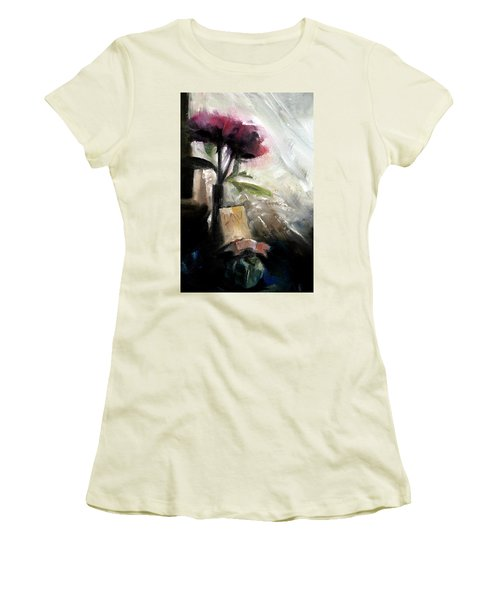 Memories In The Making Timeless Still Life Painting Women's T-Shirt (Athletic Fit)