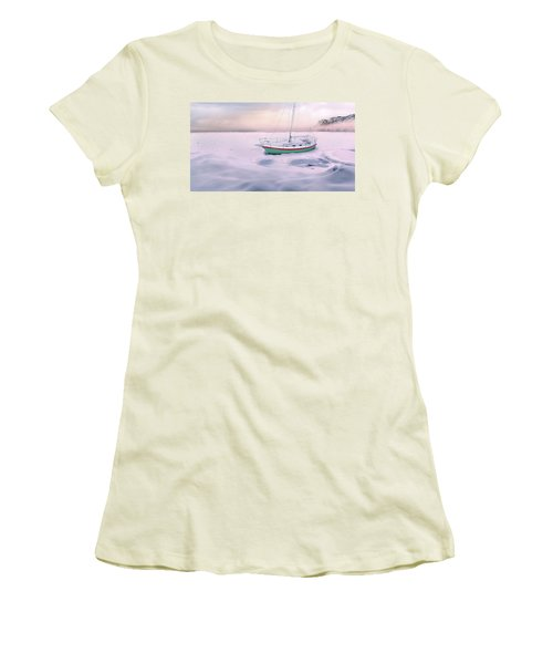 Women's T-Shirt (Athletic Fit) featuring the photograph Memories Of Seasons Past - Prisoner Of Ice by John Poon