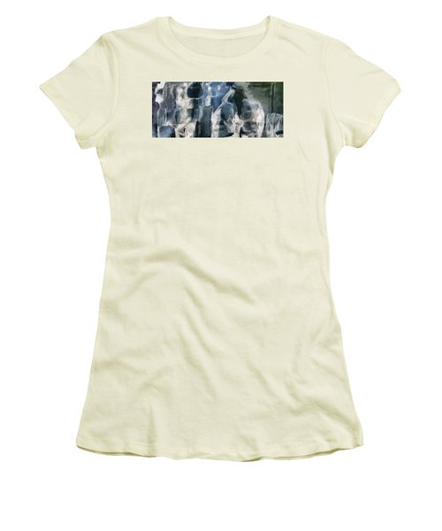 Memory Hotel - Dark Canvas Abstract Art Women's T-Shirt (Athletic Fit)