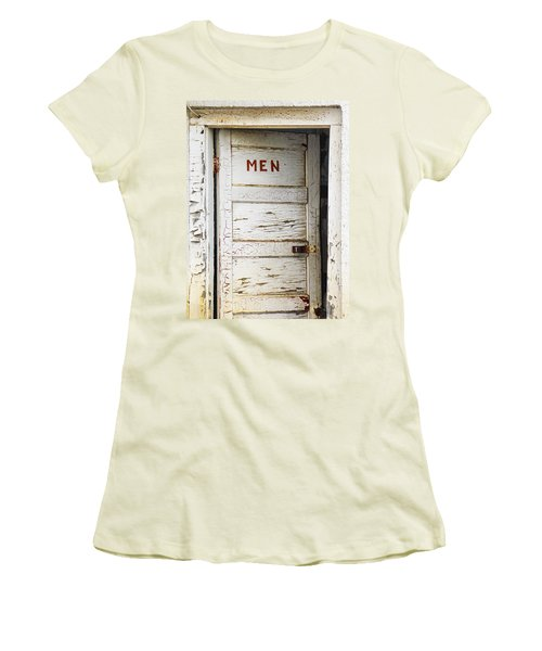 Men's Room Women's T-Shirt (Junior Cut) by Marilyn Hunt