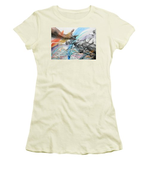Women's T-Shirt (Junior Cut) featuring the painting Metamorphosis by J- J- Espinoza