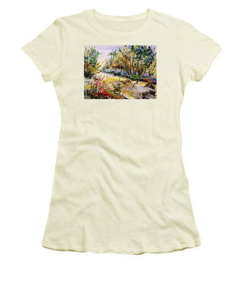 Women's T-Shirt (Junior Cut) featuring the painting Mid-morning Light by John Williams