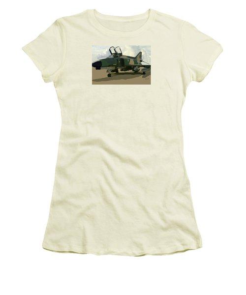 Women's T-Shirt (Junior Cut) featuring the digital art Mig Killer by Walter Chamberlain
