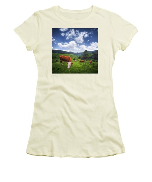 Women's T-Shirt (Junior Cut) featuring the photograph Milka by Bess Hamiti