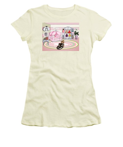 Millie Larue's French Room Women's T-Shirt (Junior Cut) by Catia Cho