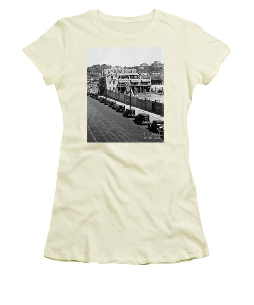 Women's T-Shirt (Athletic Fit) featuring the photograph Miramar Saltwater Pool by Cole Thompson